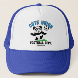 Trucker Hat with Cute Union Football Department design