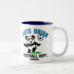 Two-Tone Mug with Cute Union Football Department design