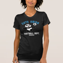 Women's American Apparel Fine Jersey Short Sleeve T-Shirt with Cute Union Football Department design