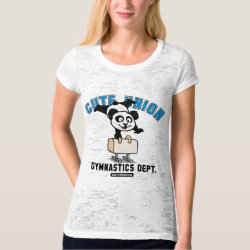 Women's Canvas Fitted Burnout T-Shirt with Cute Union Gymnastics Dept: Pommel Horse design