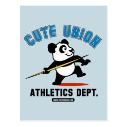 Postcard with Cute Union Athletics Dept: Javelin design