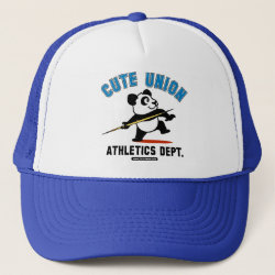 Trucker Hat with Cute Union Athletics Dept: Javelin design