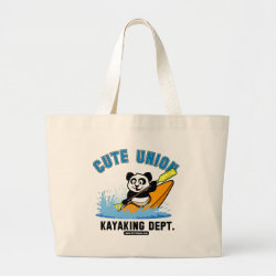 Jumbo Tote Bag with Cute Union Kayaking Department design