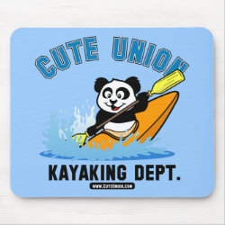 Mousepad with Cute Union Kayaking Department design