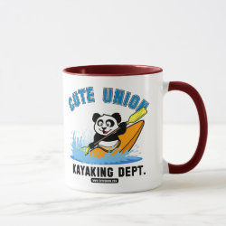 Combo Mug with Cute Union Kayaking Department design