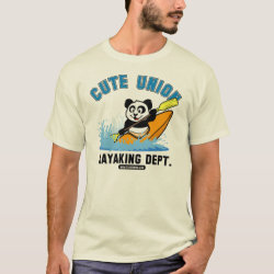 Men's Basic T-Shirt with Cute Union Kayaking Department design