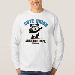 Men's Basic Long Sleeve T-Shirt with Cute Union Athletics Dept: Shot Put design