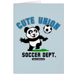 Greeting Card with Cute Union Soccer Dept design