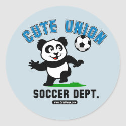 Round Sticker with Cute Union Soccer Dept design