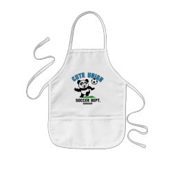 Kid's Apron with Cute Union Soccer Dept design