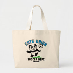Jumbo Tote Bag with Cute Union Soccer Dept design