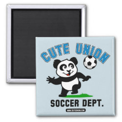 Square Magnet with Cute Union Soccer Dept design