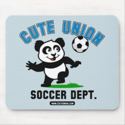Mousepad with Cute Union Soccer Dept design