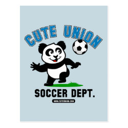 Postcard with Cute Union Soccer Dept design