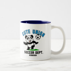 Two-Tone Mug with Cute Union Soccer Dept design
