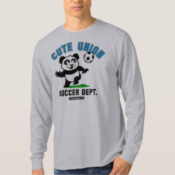Men's Basic Long Sleeve T-Shirt with Cute Union Soccer Dept design