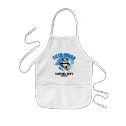 Kid's Apron with Cute Union Surfing Dept design