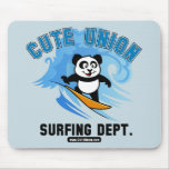 Cute Union Surfing Department Mouse Pad