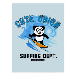 Postcard with Cute Union Surfing Dept design