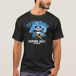 Cute Union Surfing Dept Men's Basic Dark T-Shirt