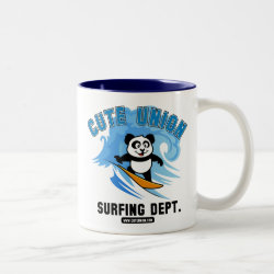 Two-Tone Mug with Cute Union Surfing Dept design