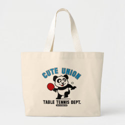 Jumbo Tote Bag with Cute Union Table Tennis Dept design