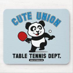 Mousepad with Cute Union Table Tennis Dept design