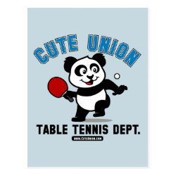 Postcard with Cute Union Table Tennis Dept design
