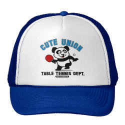 Trucker Hat with Cute Union Table Tennis Dept design
