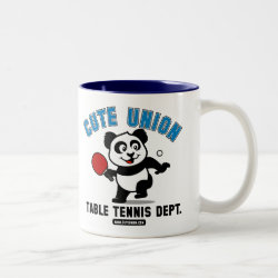 Two-Tone Mug with Cute Union Table Tennis Dept design