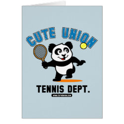 Greeting Card with Cute Union Tennis Dept design
