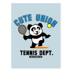 Postcard with Cute Union Tennis Dept design
