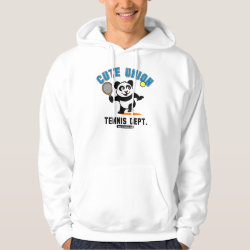 Men's Basic Hooded Sweatshirt with Cute Union Tennis Dept design