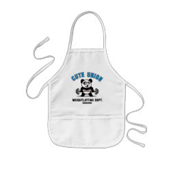 Kid's Apron with Cute Union Weightlifting Dept design