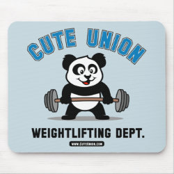Mousepad with Cute Union Weightlifting Dept design
