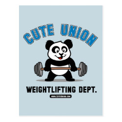 Cute Union Weightlifting Dept Postcard
