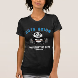 Women's American Apparel Fine Jersey Short Sleeve T-Shirt with Cute Union Weightlifting Dept design