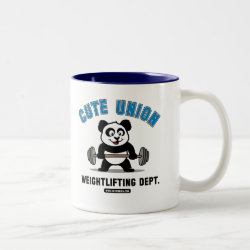 Two-Tone Mug with Cute Union Weightlifting Dept design