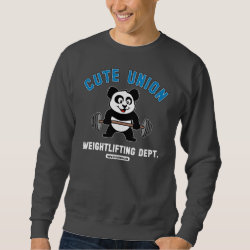 Men's Basic Sweatshirt with Cute Union Weightlifting Dept design