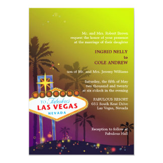 Cute Unique Viva Las Vegas Wedding Card