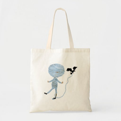 cute unraveling mummy tote bags