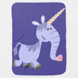 Cute Unusual Cartoon Unicorn Baby Blanket