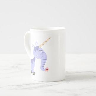 Cute Unusual Cartoon Unicorn Bone China Mug