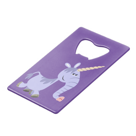 Cute Unusual Cartoon Unicorn Bottle Opener Credit Card Bottle Opener
