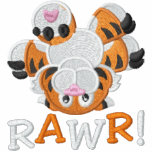 Cute Upside Down Baby Tiger RAWR! Embroidered Jacket