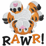 Cute Upside Down Baby Tiger RAWR! Embroidered Jackets