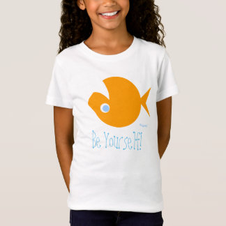 Cute Upside-Down Goldfish Be Yourself T-Shirt