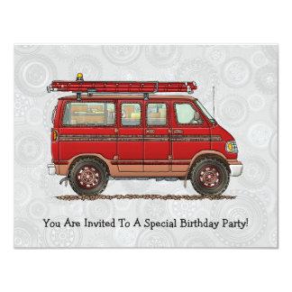 Cute Utility Pickup 4.25x5.5 Paper Invitation Card