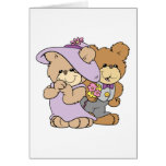 cute valentine date teddy bear couple greeting cards
