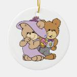 cute valentine date teddy bear couple christmas ornaments